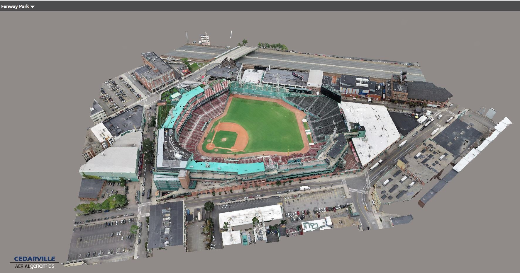 3D Model of Fenway Park, Boston
